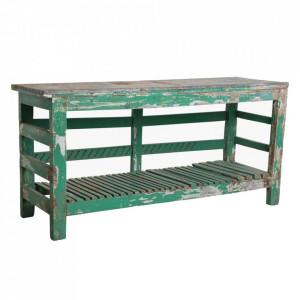 Consola verde din lemn si zinc 151 cm Falkland Raw Materials
