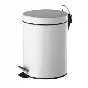 Cos de gunoi alb din metal 5 L Eddie Unimasa