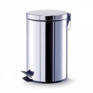 Cos de gunoi argintiu din inox 12 L Household Maxi Zeller