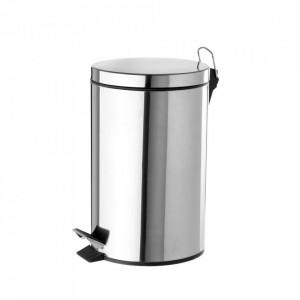 Cos de gunoi argintiu din inox 3 L Ella Unimasa