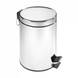 Cos de gunoi argintiu din inox 5 L Anya Wenko