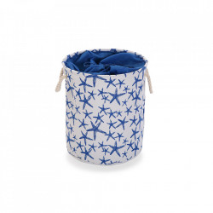 Cos de rufe alb/albastru din poliester 35x40 cm Blue Sea Laundry Mini Versa Home