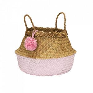 Cos roz/maro din fibre naturale Pompom Kids Depot