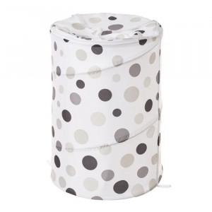 Cos rufe pliabil multicolor din poliester 69 L Dots Grey Unimasa