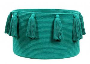 Cos verde smarald din bumbac Tassels Emerald Lorena Canals