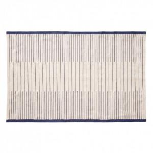 Covor alb/albastru din textil 120x180 cm Woven Hubsch