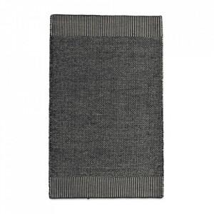 Covor alb/gri din lana si iuta 90x140 cm Rombo Woud