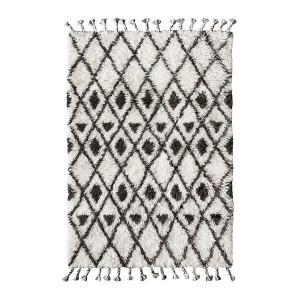 Covor alb/negru din lana 120x180 cm Berber HK Living