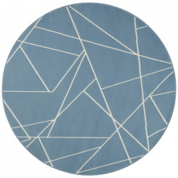 Covor albastru din polipropilena 140 cm Geometric The Home