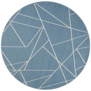 Covor albastru din polipropilena 140 cm Geometric The Home