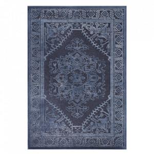 Covor albastru din viscoza si poliester Creative Vilaine Blue Elle Decor (diverse dimensiuni)