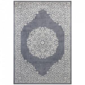 Covor argintiu/gri antracit din bumbac si viscoza 160x230 cm Floral Orient The Home
