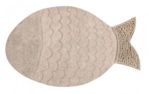Covor crem din bumbac pentru copii 110x180 cm Big Fish Lorena Canals