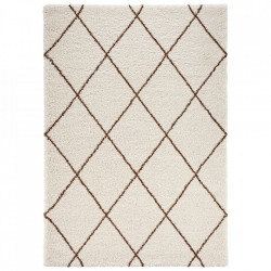 Covor crem/maro din polipropilena Allure Feel Cream Brown Mint Rugs (diverse dimensiuni)