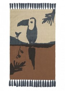Covor dreptunghiular maro din bumbac pentru copii 100x150 cm Toucan Nofred