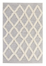 Covor gri 150 x 77cm Handira Indian Grid Mint Rugs
