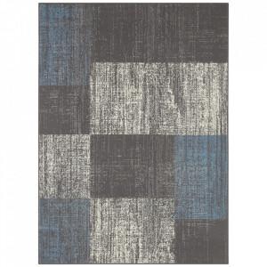 Covor gri/albastru din polipropilena Patchwork Design The Home (diverse dimensiuni)