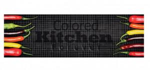 Covor gri bucatarie din poliamide 45x140 cm Colored Kitchen Zala Living