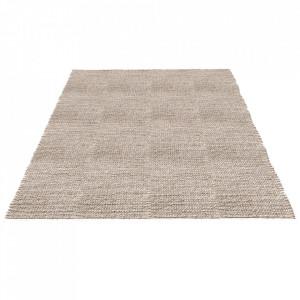 Covor gri deschis din lana si viscoza 250x350 cm Braid Bolia