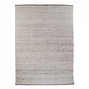 Covor gri din lana si bumbac 200x300 cm Kansas House Nordic
