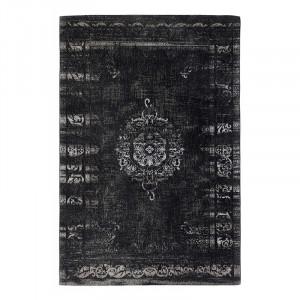 Covor gri inchis/negru din bumbac si poliester 160x240 cm Grand Nordal