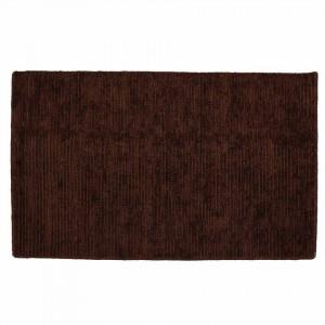 Covor maro din lana si poliester 120x170 cm Lohit Mocha Zago