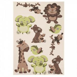 Covor maro/verde pentru copii 200x140 cm Animals Zala Living