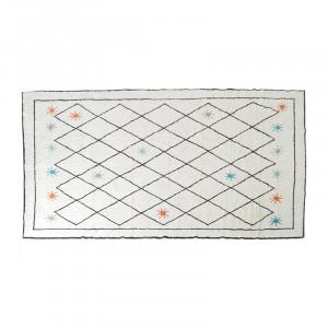 Covor multicolor din bumbac si fibre 200x300 cm Sachin Opjet Paris