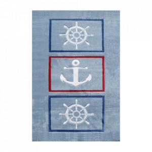 Covor multicolor din polipropilena si iuta Auf Hoher See Happy Rugs (diverse dimensiuni)