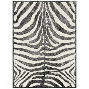 Covor negru/alb din polipropilena Tiger Motiv The Home (diverse dimensiuni)