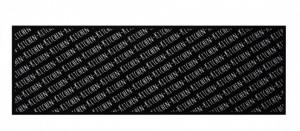Covor negru bucatarie din poliamide 50x150 cm Allover Zala Living