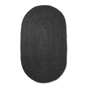 Covor negru din iuta 140x200 cm Eternal Ferm Living