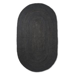 Covor negru din iuta 230x340 cm Eternal Ferm Living