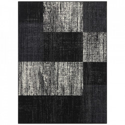 Covor negru din polipropilena Patchwork Design The Home (diverse dimensiuni)