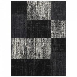 Covor negru din polipropilena Patchwork Design The Home (diverse dimensiuni)