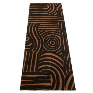 Covor negru/maro din poliamide 67x180 cm Viva Fantastique Black Brown Elle Decor