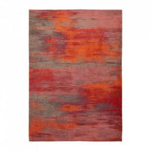 Covor rosu din bumbac si poliester Atlantic's Hibiscus Red Louis de Poortere (diverse dimensiuni)