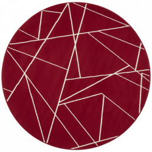 Covor rosu din polipropilena 140 cm Geometric The Home