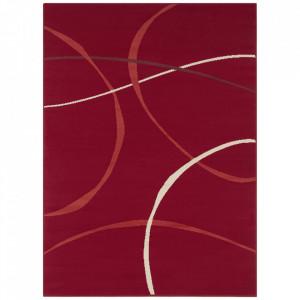 Covor rosu din polipropilena Retro Design The Home (diverse dimensiuni)