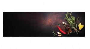 Covor rosu/negru bucatarie din poliamide 45x140 cm Kitchen Spices Zala Living