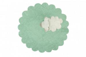 Covor rotund verde din bumbac pentru copii 140 cm Puffy Sheep Lorena Canals
