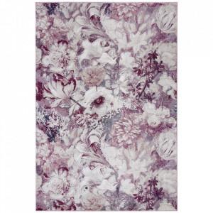 Covor roz/crem din polipropilena Romance Flower Symphony Mint Rugs (diverse dimensiuni)