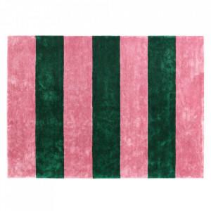 Covor roz/verde din matase 200x280 cm Pavilion Normann Copenhagen