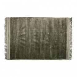 Covor verde din viscoza si bumbac 170x240 cm Ravel Warm Green Be Pure Home