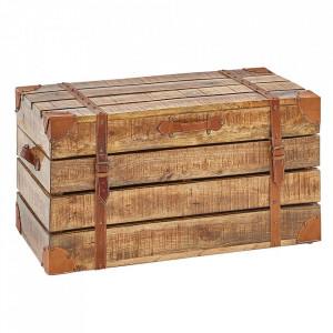 Cufar maro din lemn de mango Factory Loft Invicta Interior