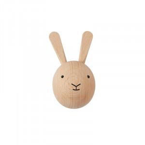 Cuier maro din lemn Rabbit Mini Oyoy