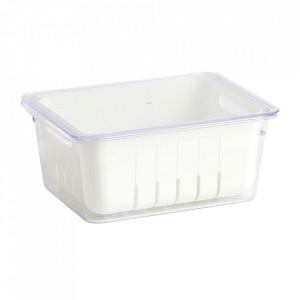 Cutie cu capac pentru frigider alba din plastic Rio Zeller