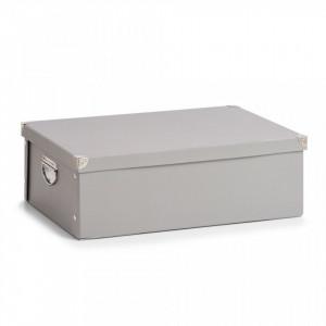Cutie gri cu capac din carton Underbed Box Gray Zeller