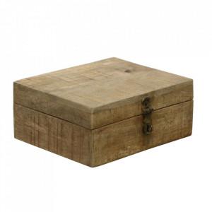 Cutie maro din lemn de mango pentru ceaiuri  Vintage Tea Box Raw Materials