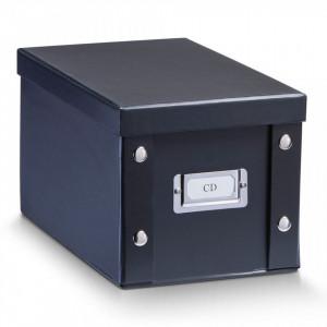 Cutie neagra cu capac din carton CD Box Kids Black Zeller